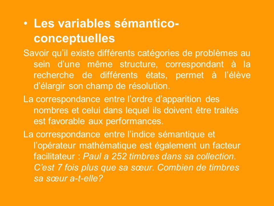 Variables envisagées : Les variables rhétoriques – Les indices sémantiques présents dans lénoncé comme partage, distribue favorisent ou complexifient