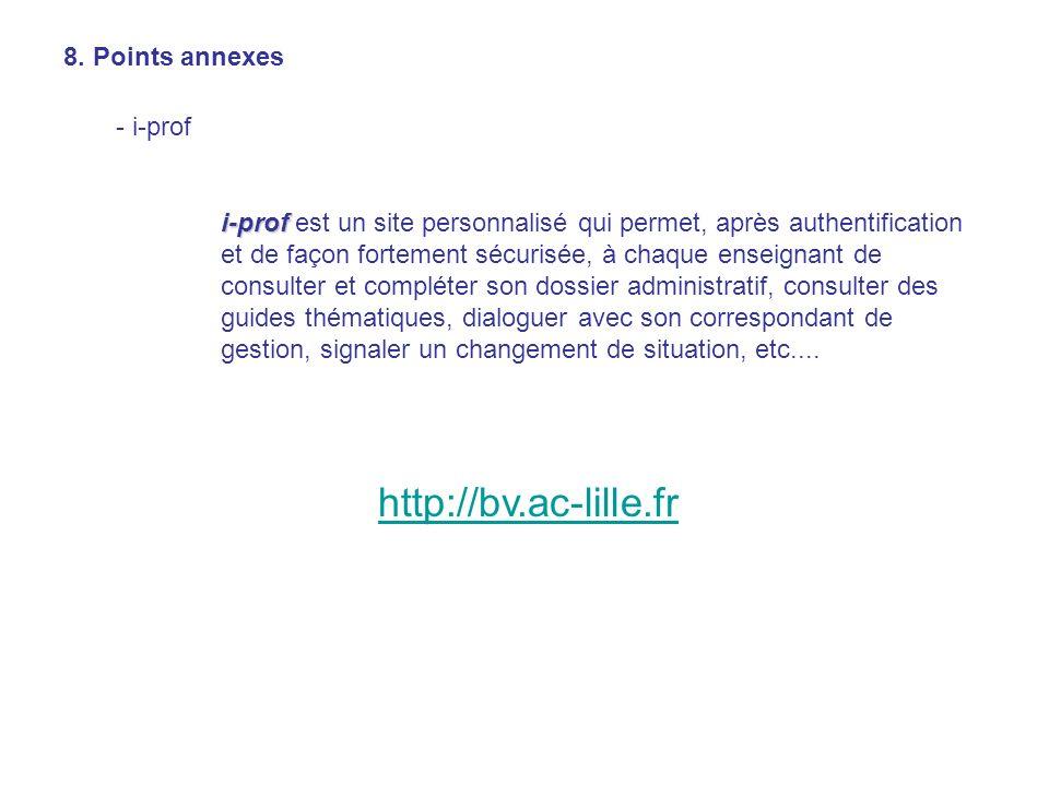 8. Points annexes - i-prof i-prof i-prof est un site personnalisé qui permet, après authentification et de façon fortement sécurisée, à chaque enseign