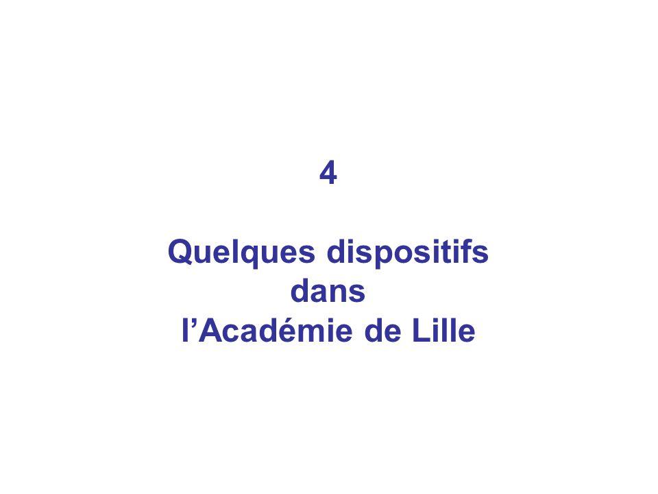 4 Quelques dispositifs dans lAcadémie de Lille