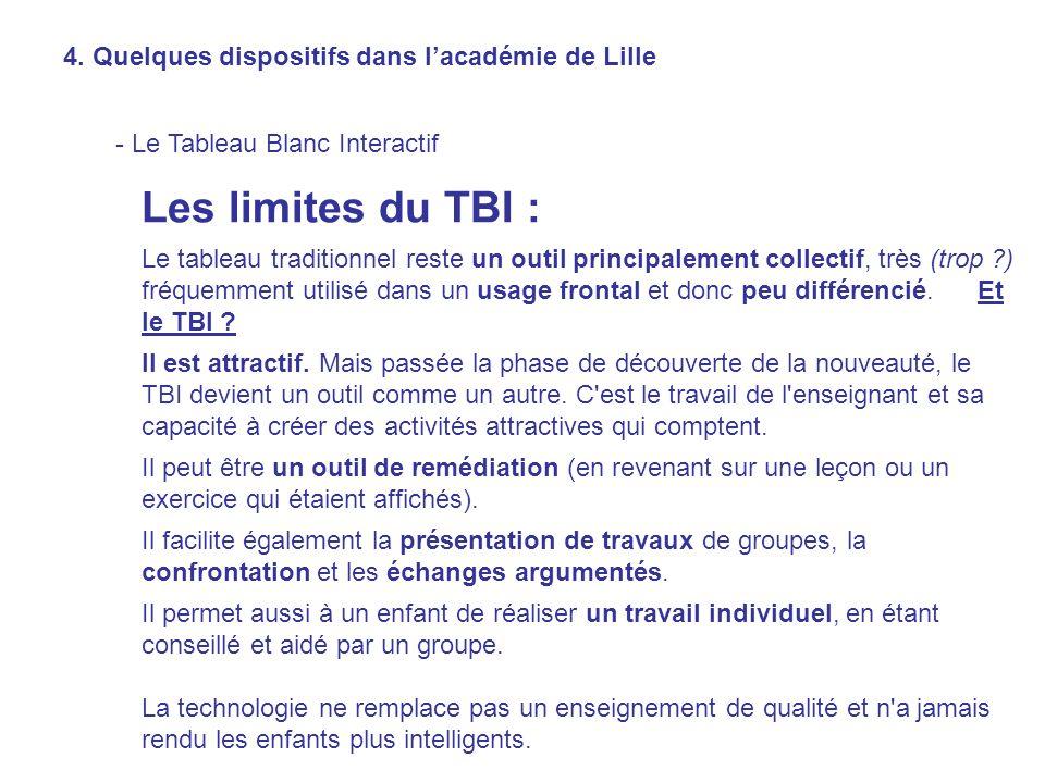 Les limites du TBI : Le tableau traditionnel reste un outil principalement collectif, très (trop ?) fréquemment utilisé dans un usage frontal et donc