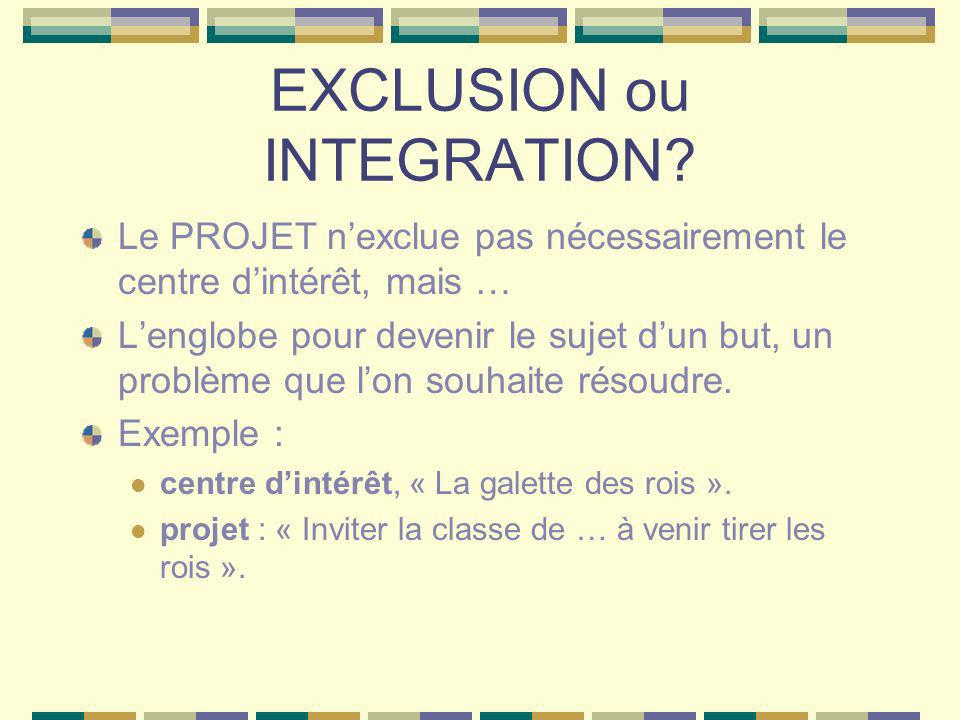 EXCLUSION ou INTEGRATION.