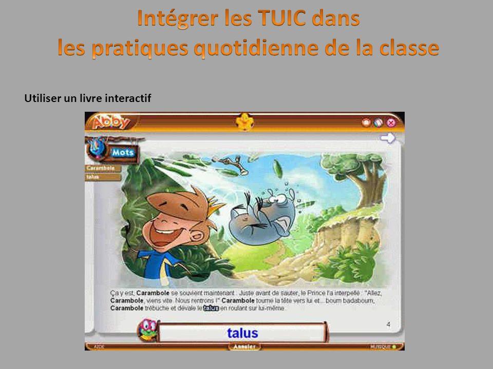 Utiliser un livre interactif