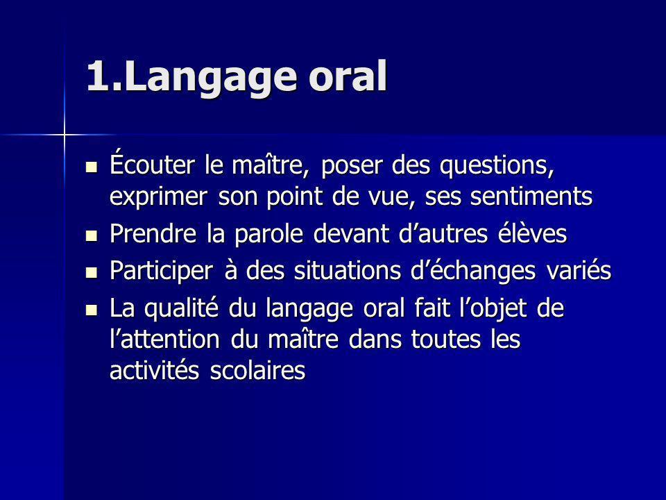 Pratique dune langue vivante En fin de CM2, les élèves doivent avoir acquis les compétences définies par le niveau A1 du cadre européen commun de référence Les activités sont exclusivement orales et participent à une meilleure compréhension et expression