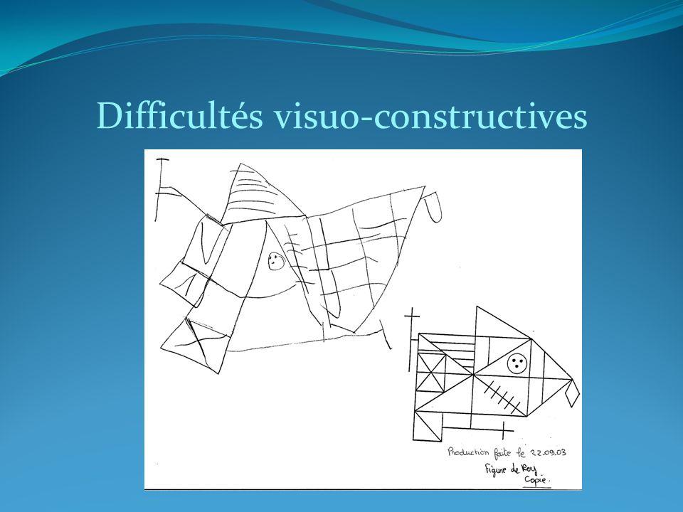 Difficultés visuo-constructives
