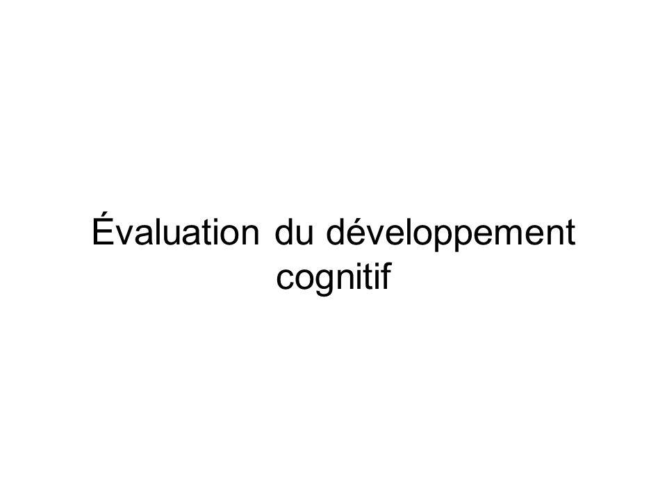 Évaluation du développement cognitif