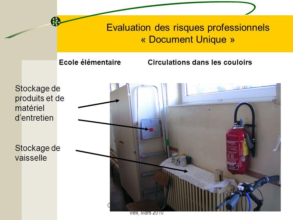 Créé par C. Strugala, CPC Vendin-le- Vieil, Mars 2010 Evaluation des risques professionnels « Document Unique » Stockage de produits et de matériel de
