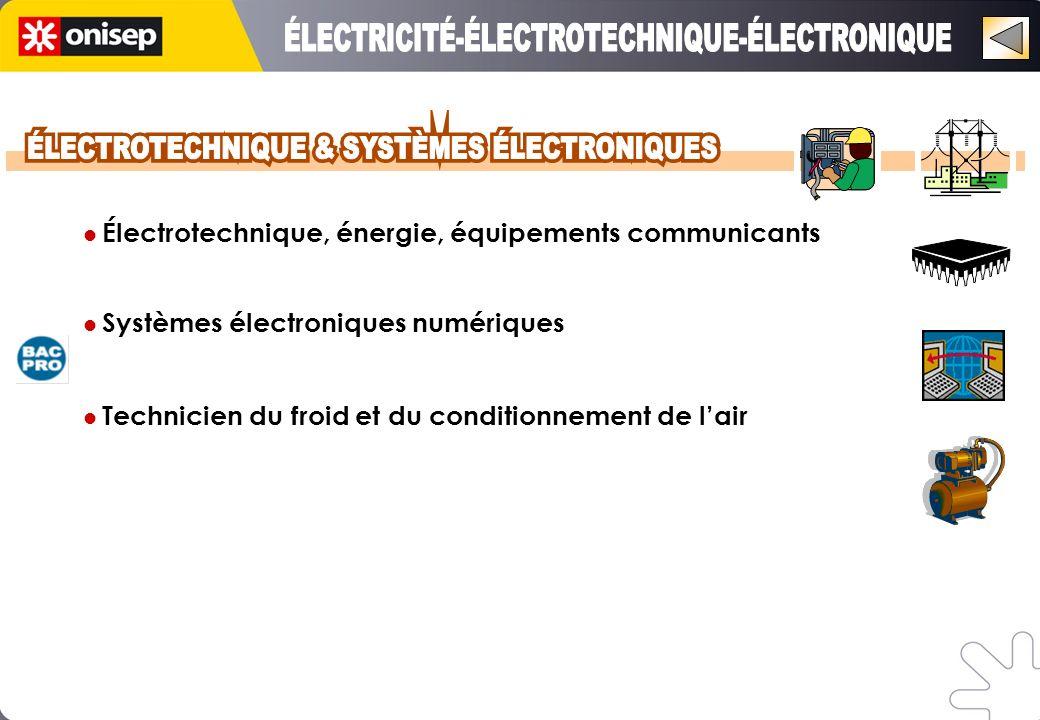 Électrotechnique, énergie, équipements communicants Systèmes électroniques numériques Technicien du froid et du conditionnement de lair