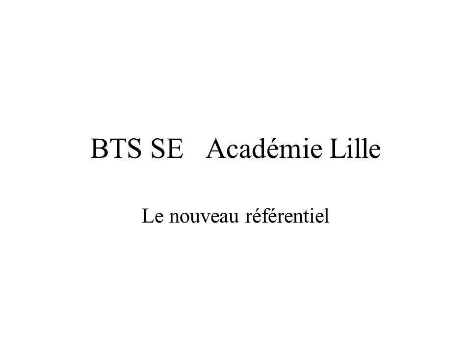 BTS SE Académie Lille Le nouveau référentiel