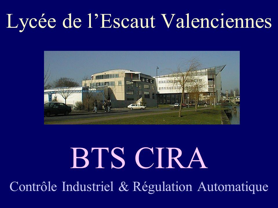Lycée de lEscaut Valenciennes BTS CIRA Contrôle Industriel & Régulation Automatique