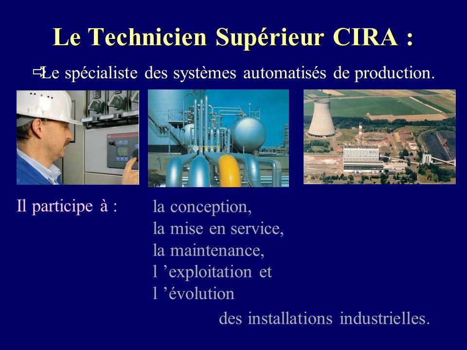 Le Technicien Supérieur CIRA : Le spécialiste des systèmes automatisés de production.