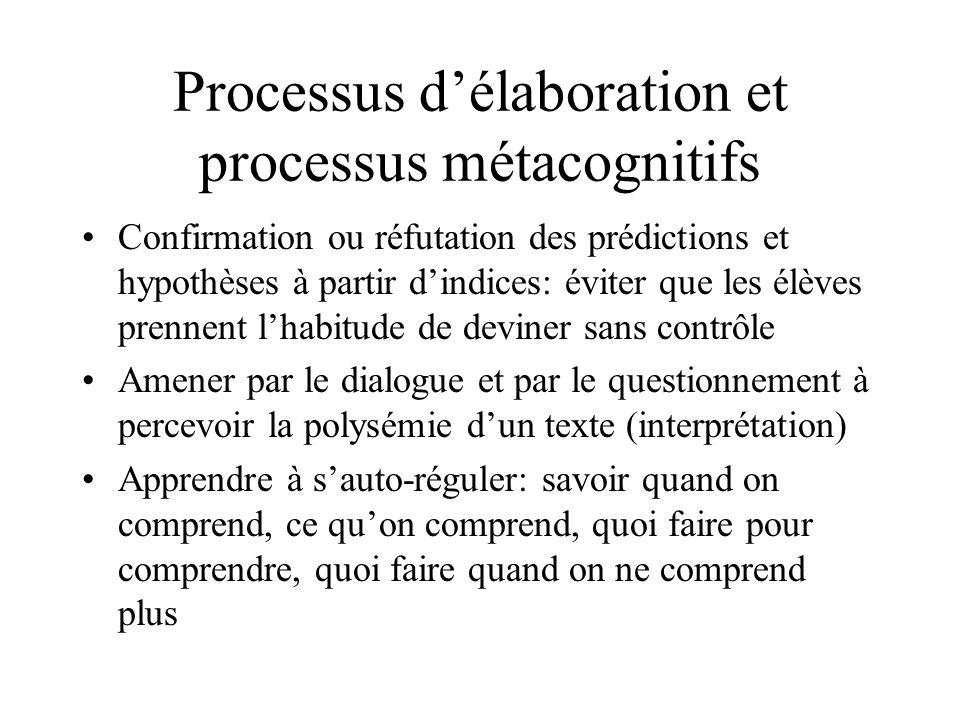 Les macro processus: capacité à comprendre globalement le texte Chercher lidée principale dun paragraphe: dégager, à partir de séquences larges de tex