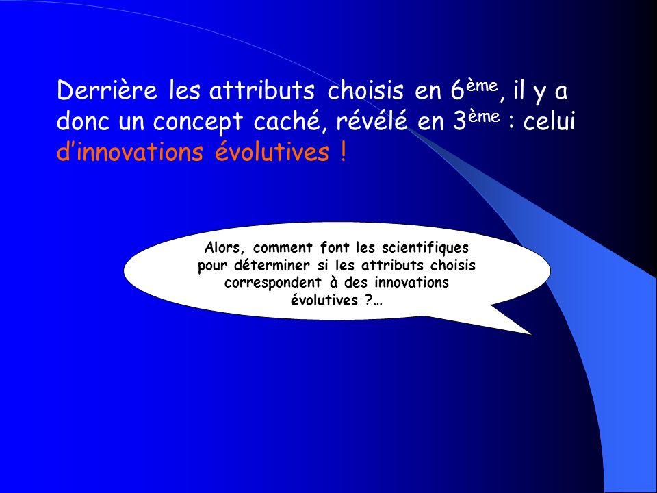 La méthode cladistique est fondée sur le partage dinnovations évolutives : Des taxons terminaux qui partagent des innovations évolutives héritées dun ancêtre commun sont plus proches entre eux quils ne le sont des autres taxons terminaux.