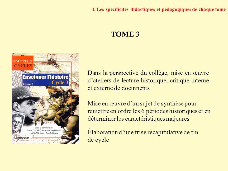 Dans la perspective du collège, mise en œuvre dateliers de lecture historique, critique interne et externe de documents Mise en œuvre dun sujet de syn
