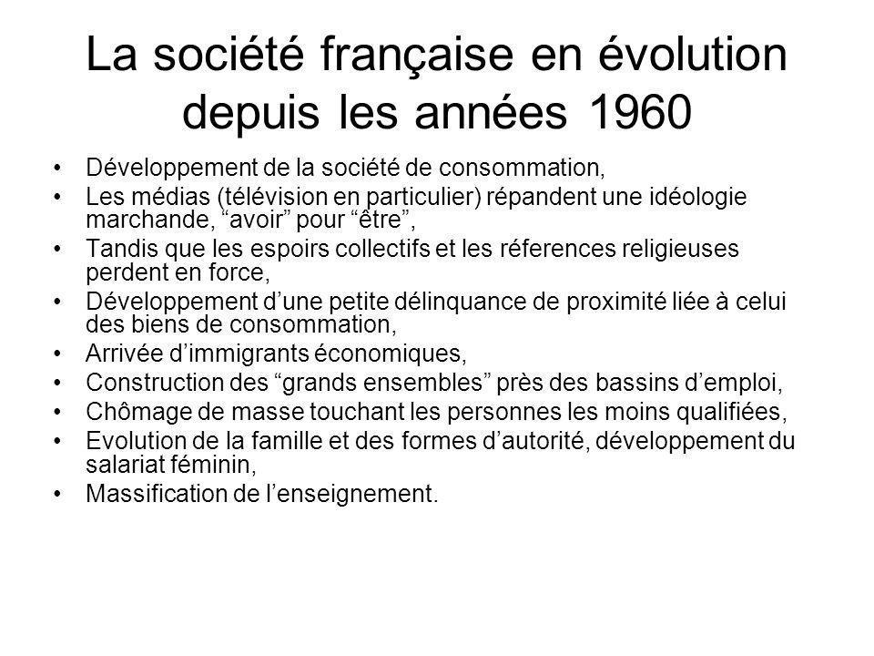 La société française en évolution depuis les années 1960 Développement de la société de consommation, Les médias (télévision en particulier) répandent