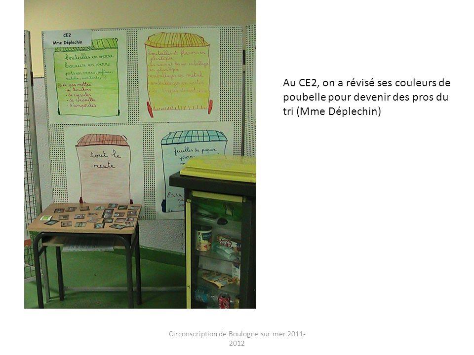 Circonscription de Boulogne sur mer 2011- 2012 Au CE2, on a révisé ses couleurs de poubelle pour devenir des pros du tri (Mme Déplechin)