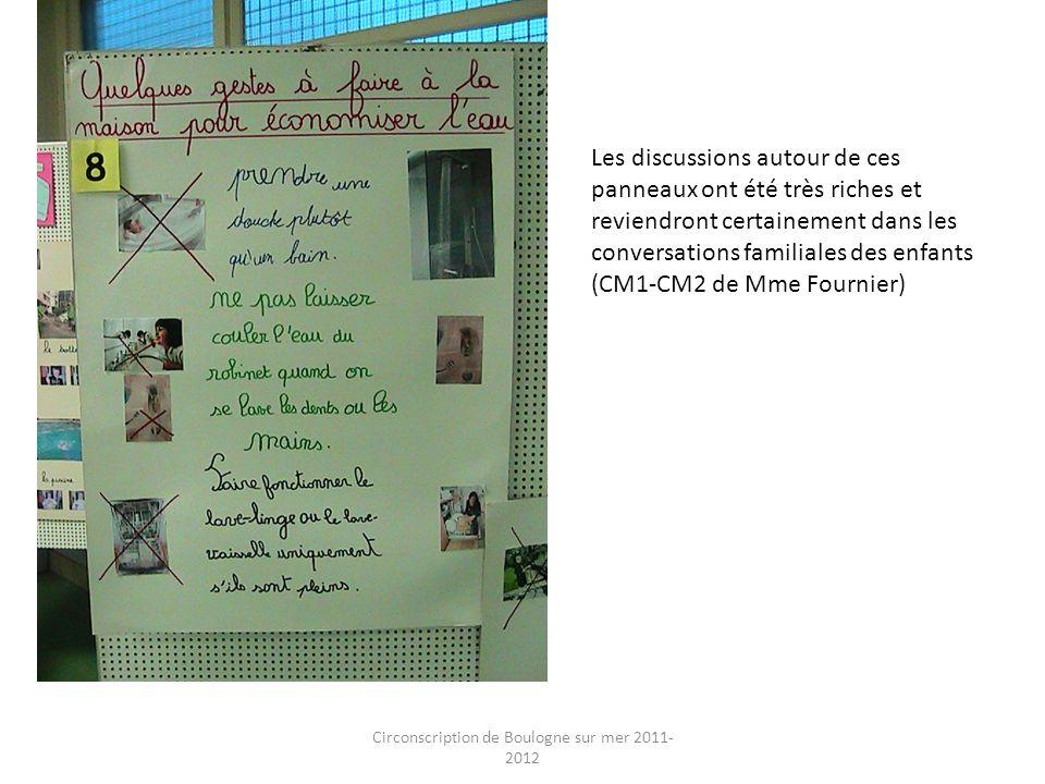 Circonscription de Boulogne sur mer 2011- 2012 Les discussions autour de ces panneaux ont été très riches et reviendront certainement dans les convers