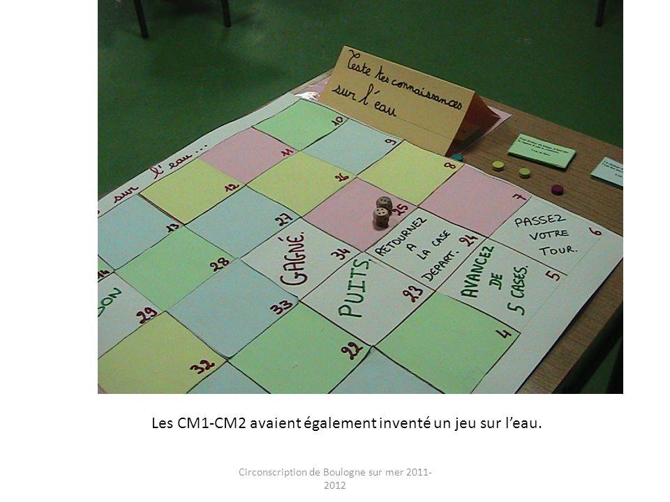Circonscription de Boulogne sur mer 2011- 2012 Les CM1-CM2 avaient également inventé un jeu sur leau.