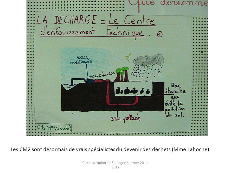 Circonscription de Boulogne sur mer 2011- 2012 Toujours les CM2 : ils ont complètement intégré le côté techniques du traitement des déchets (Mme Lahoche)