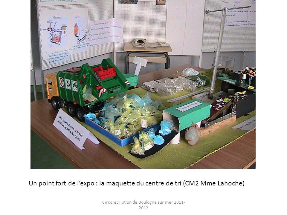 Circonscription de Boulogne sur mer 2011- 2012 Un point fort de lexpo : la maquette du centre de tri (CM2 Mme Lahoche)
