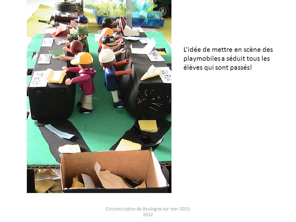 Circonscription de Boulogne sur mer 2011- 2012 Lidée de mettre en scène des playmobiles a séduit tous les élèves qui sont passés!