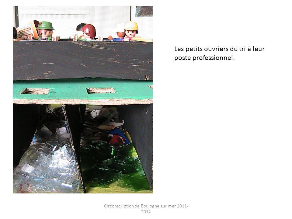 Circonscription de Boulogne sur mer 2011- 2012 Les petits ouvriers du tri à leur poste professionnel.