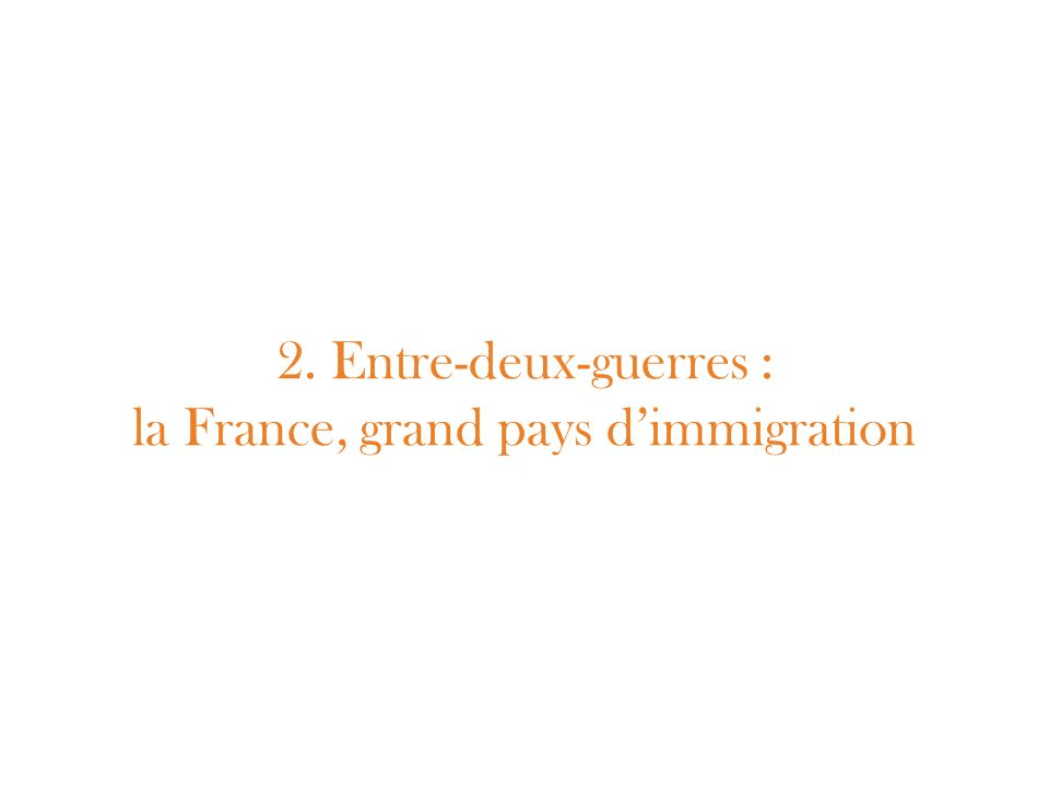 2. Entre-deux-guerres : la France, grand pays dimmigration