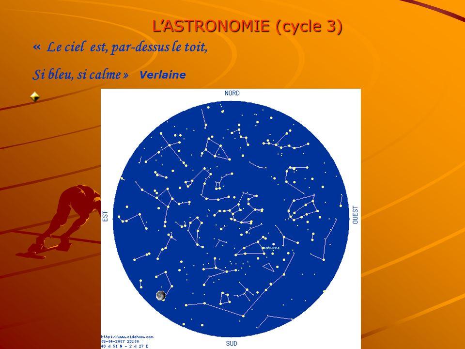 LASTRONOMIE (cycle 3) « Le ciel est, par-dessus le toit, Si bleu, si calme » Verlaine