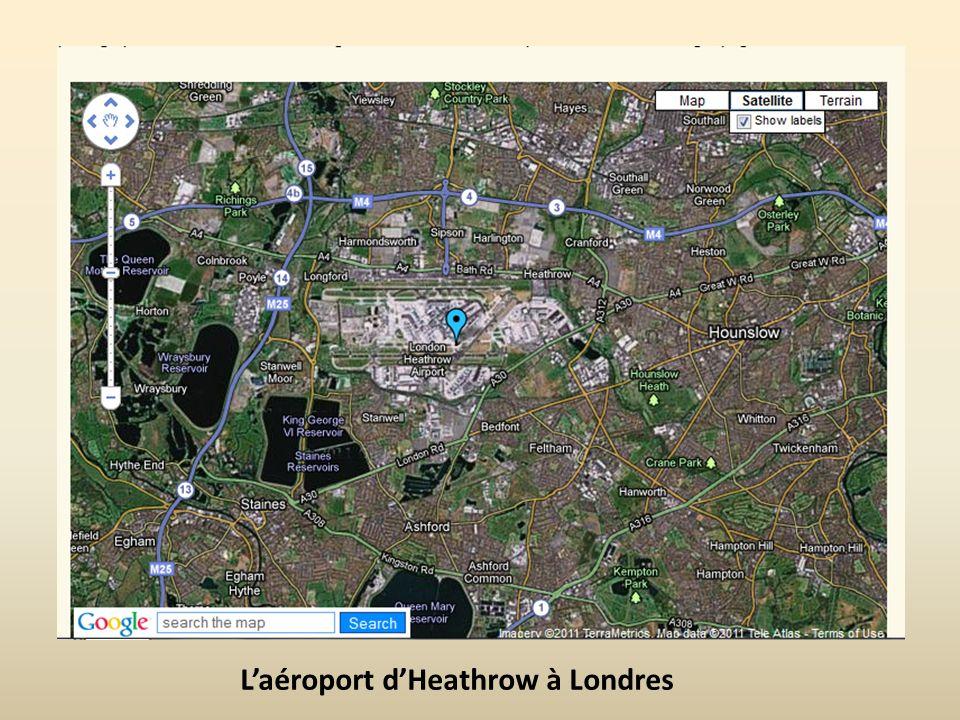 Laéroport dHeathrow à Londres