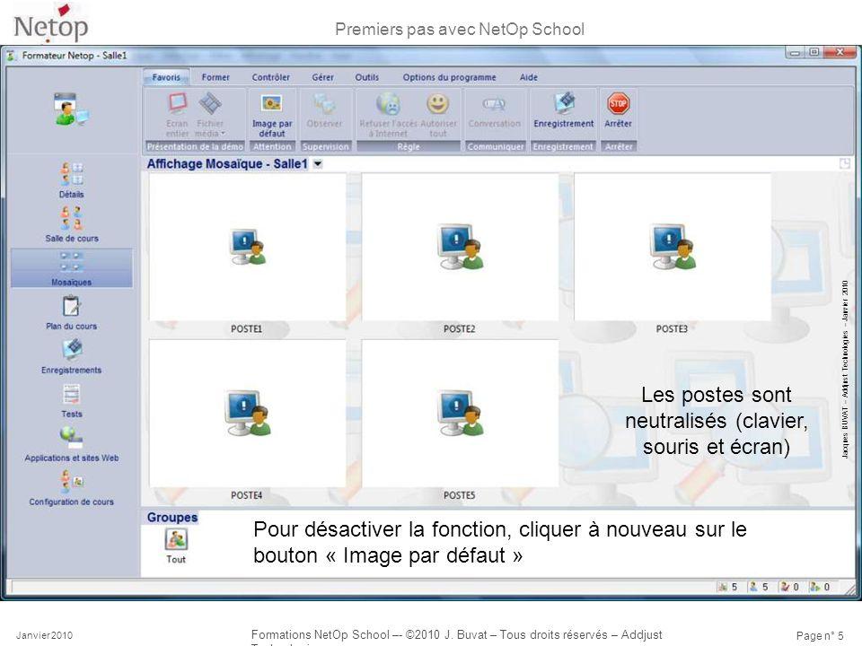 Premiers pas avec NetOp School Janvier 2010 Formations NetOp School –- ©2010 J. Buvat – Tous droits réservés – Addjust Technologies Page n° 5 Les post