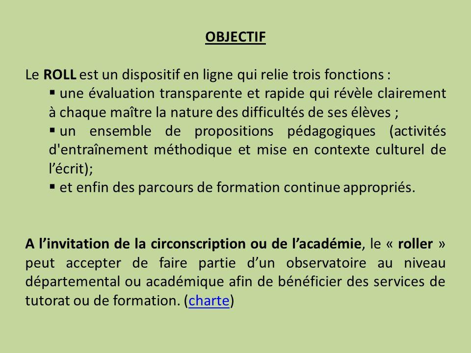 FORMATION Linscription dans le dispositif est une décision individuelle.
