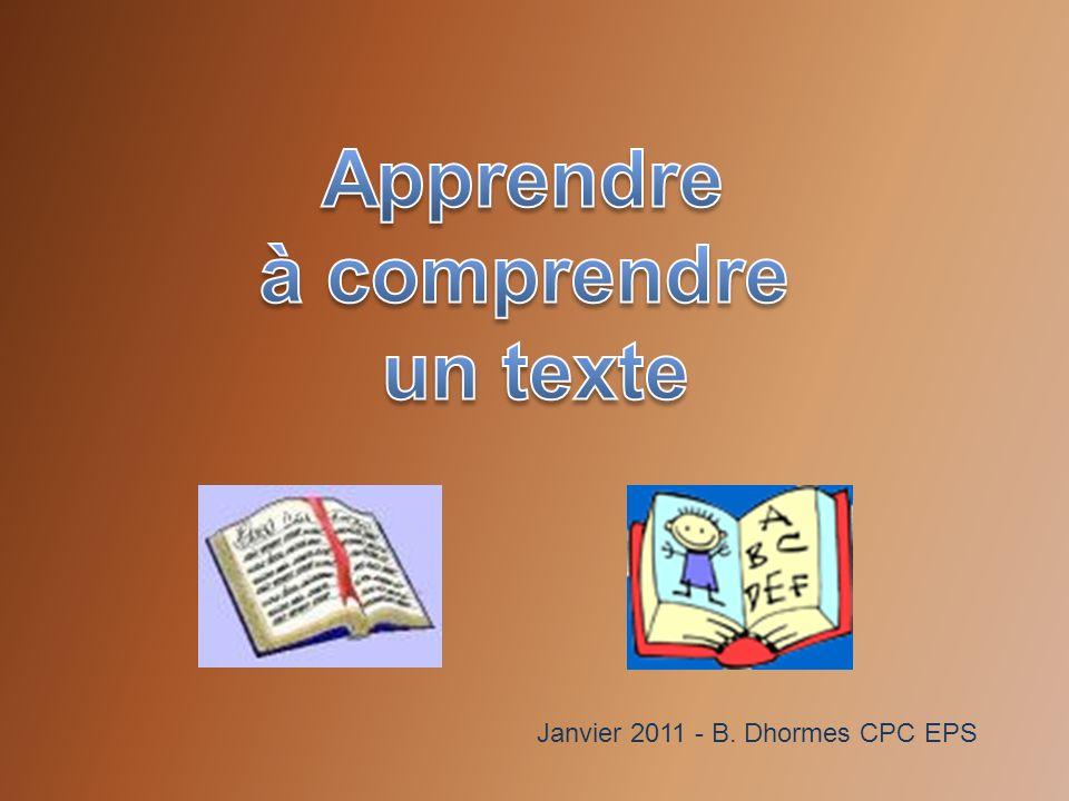 Janvier 2011 - B. Dhormes CPC EPS
