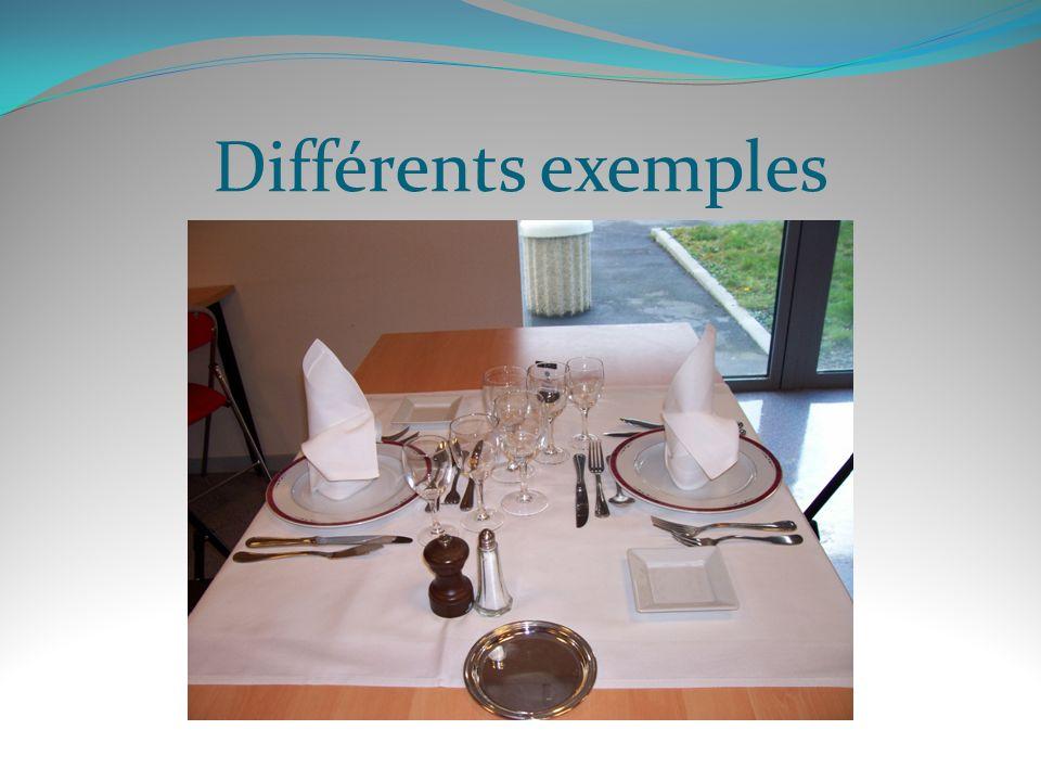 Différents exemples