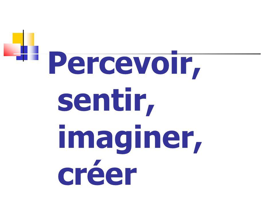 Percevoir, sentir, imaginer, créer