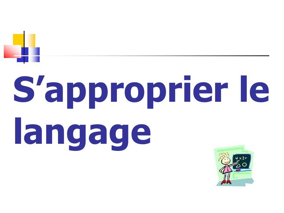 Sapproprier le langage