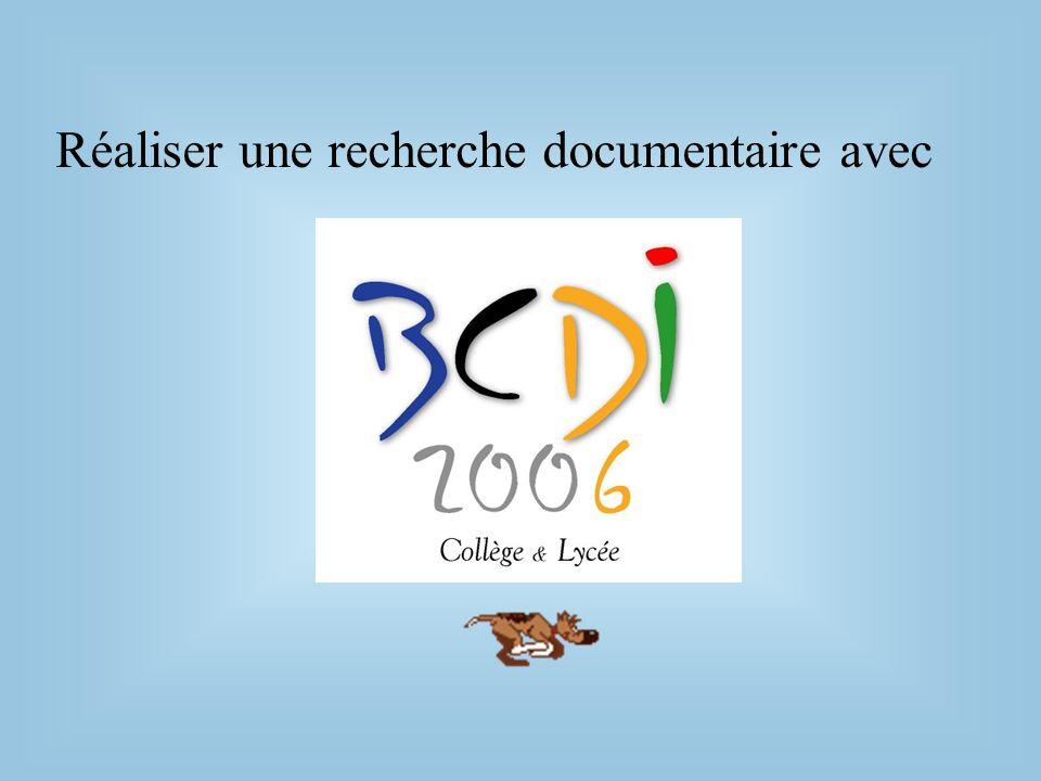 Réaliser une recherche documentaire avec