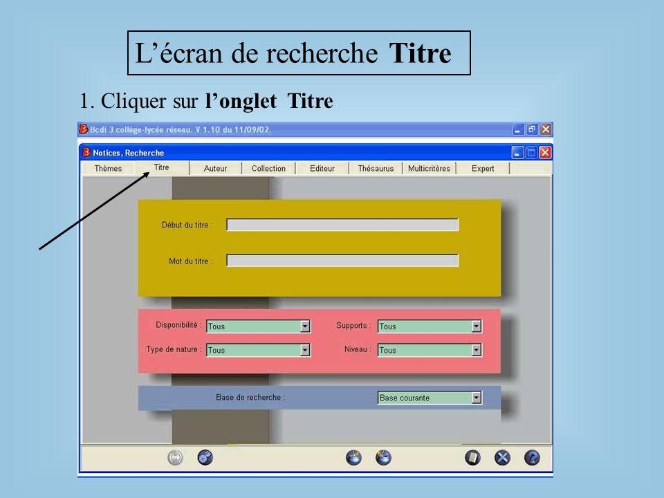 Rechercher par le début du titre la fenêtre des documents existants apparaît Lauber Tapez le début du titre Lorsque le titre recherché apparaît, tapez sur la touche « Entrée » du clavier pour le sélectionner.