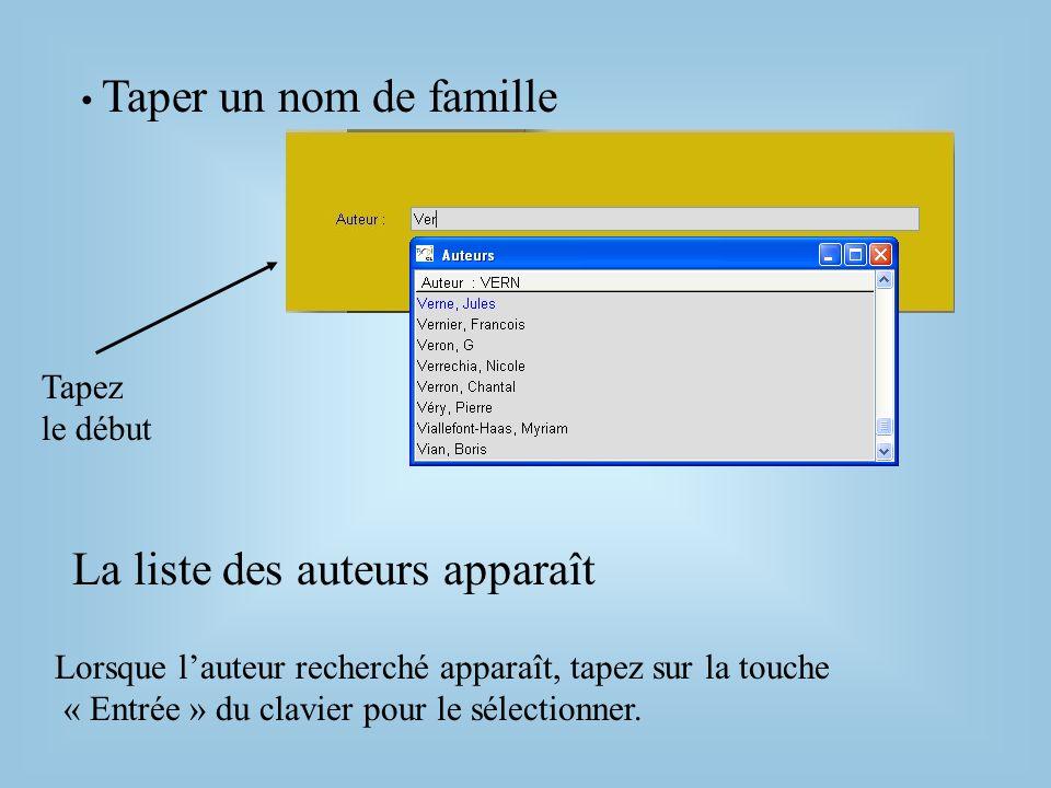 Affichage des résultats Lécran liste des fiches Eléments à observer : Le résumé La cote Les descripteurs si le document est disponible