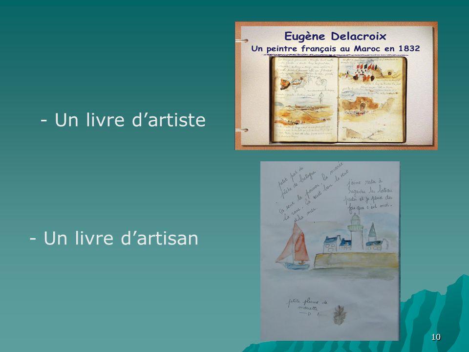 10 - Un livre dartiste - Un livre dartisan