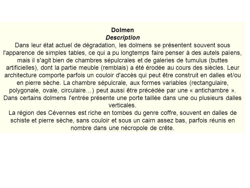 Étymologie Il semble que ce soit Théophile Malo Corret de la Tour d Auvergne qui soit « linventeur » du terme « dolmen », dans son ouvrage Origines gauloise.