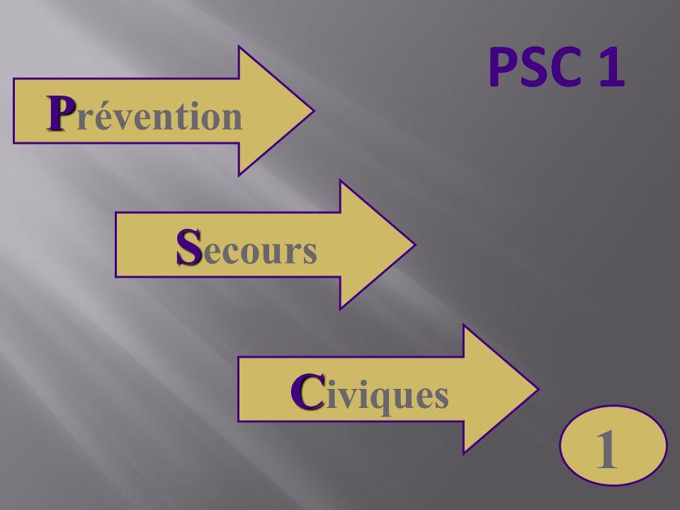 P P révention S S ecours C C iviques 1 PSC 1