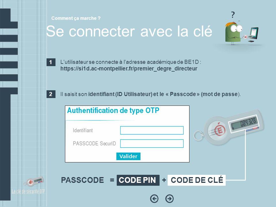 L'utilisateur se connecte à l'adresse académique de BE1D : https://si1d.ac-montpellier.fr/premier_degre_directeur Il saisit son identifiant (ID Utilis