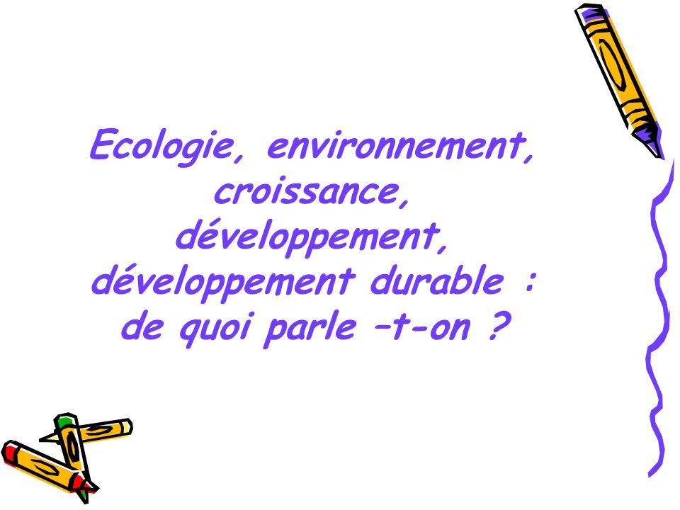 Ecologie Une approche naturaliste « Etude des milieux où vivent et se reproduisent les êtres vivants ainsi que des rapports de ces êtres entre eux et avec le milieu » (Le petit Robert 2003) Une conception où lhomme est un «perturbateur»