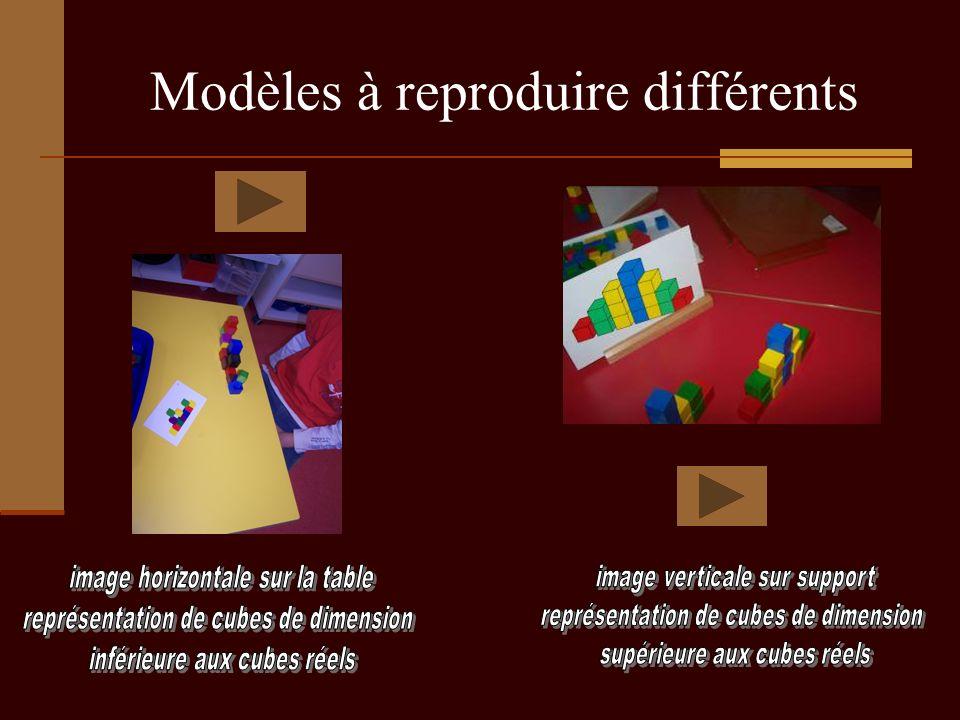 Modèles à reproduire différents