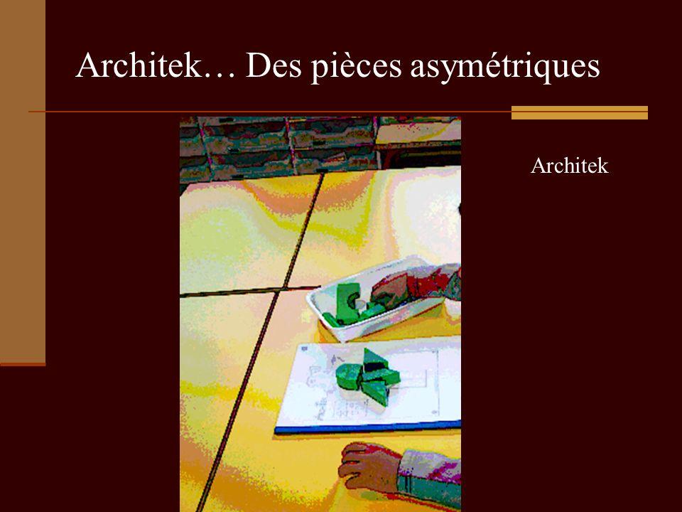 Architek… Des pièces asymétriques Architek