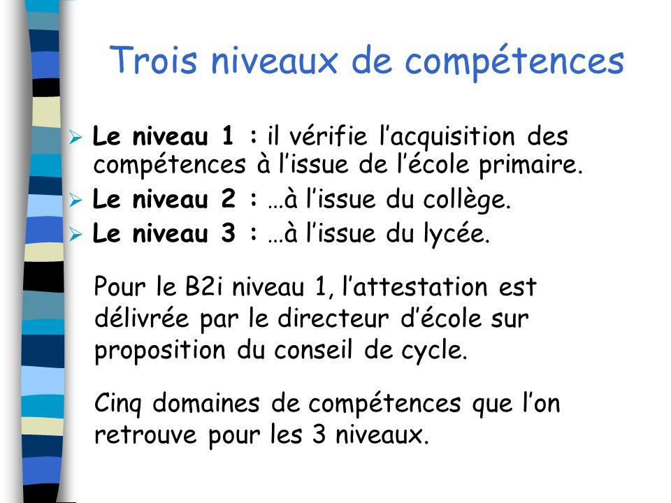 Les 5 domaines de compétences 1.Sapproprier un environnement informatique de travail.