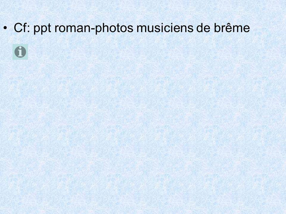 Cf: ppt roman-photos musiciens de brême