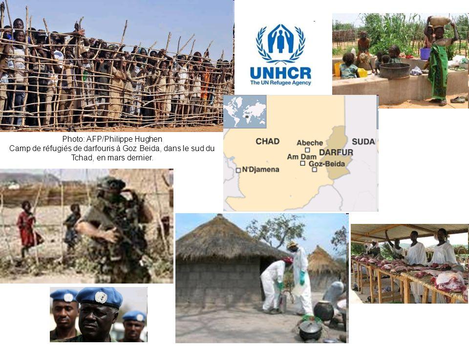 Photo: AFP/Philippe Hughen Camp de réfugiés de darfouris à Goz Beida, dans le sud du Tchad, en mars dernier.