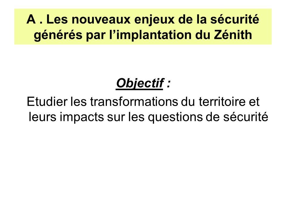 Objectif : Etudier les transformations du territoire et leurs impacts sur les questions de sécurité A. Les nouveaux enjeux de la sécurité générés par