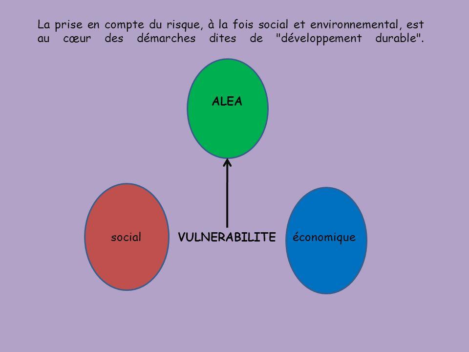 La prise en compte du risque, à la fois social et environnemental, est au cœur des démarches dites de