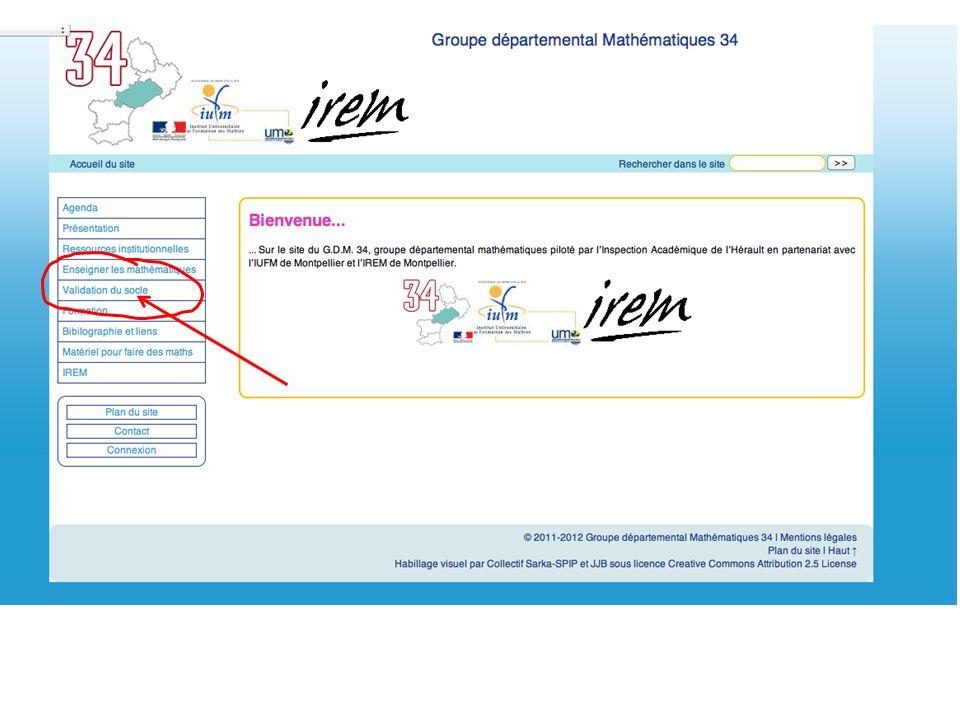 + Le Groupe Départemental Mathématiques: GDM 34 Ladresse du site: http://math34.ac-montpellier.fr/